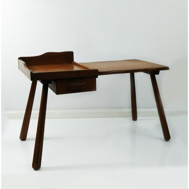 Vintage Early American Cobbler Table With Drawer For Sale - Image 6 of 7