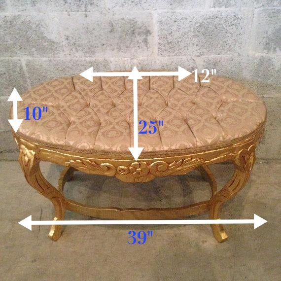 1940s Vintage French Louis XVI Style Upholstered Bench For Sale - Image 9 of 9
