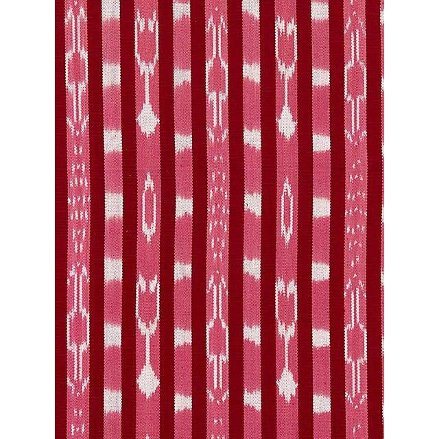 Scalamandre Jakarta Ikat Stripe, Raspberry Fabric For Sale