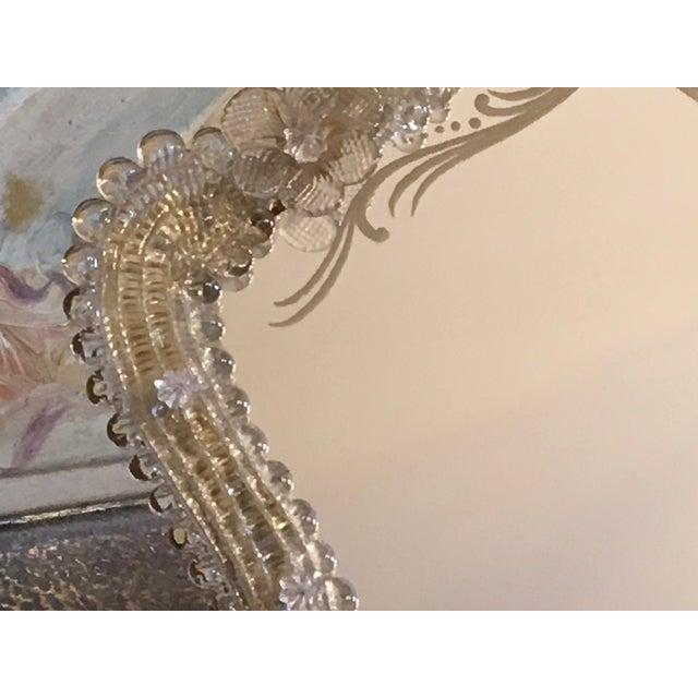 Italian Venetian Mid Century Murano Vanity Boudoir Mirror For Sale - Image 6 of 13