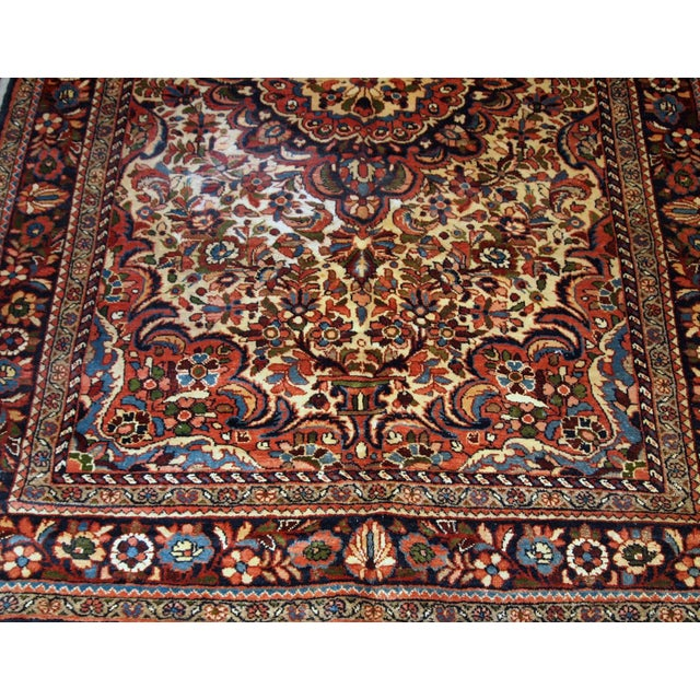 Textile 1900s, Handmade Antique Persian Sarouk Rug 3.1' X 5.2' For Sale - Image 7 of 12