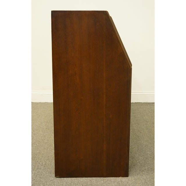 1980s Traditional Drexel Heritage Carleton Cherry Collection Storage Headboard For Sale - Image 9 of 12