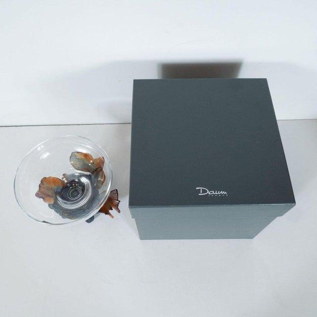 Daum Nancy Art Deco Style Crystal and Pâte De Verre Papillon Coupe by Daum For Sale - Image 4 of 13