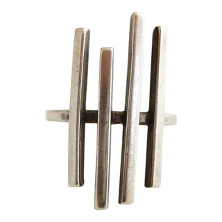 Betty Cooke Sterling Silver Minimalist Sticks Ring For Sale