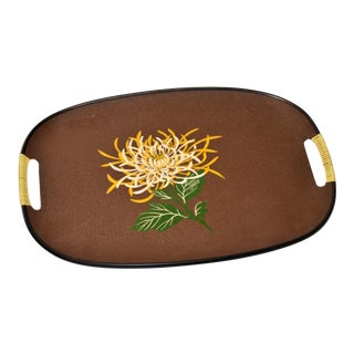 Mid-Century Japanese Chrysanthemum Flower Tray For Sale