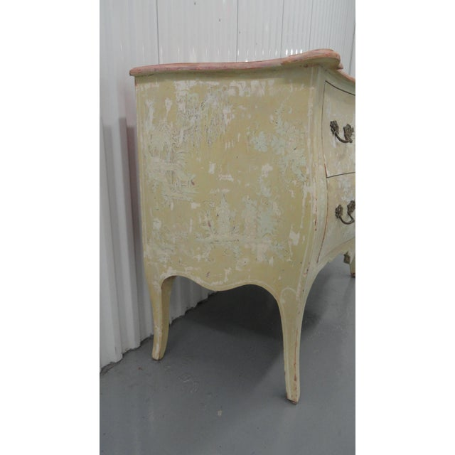 1960s Chinoiserie Painted Bombe Chest For Sale - Image 9 of 13