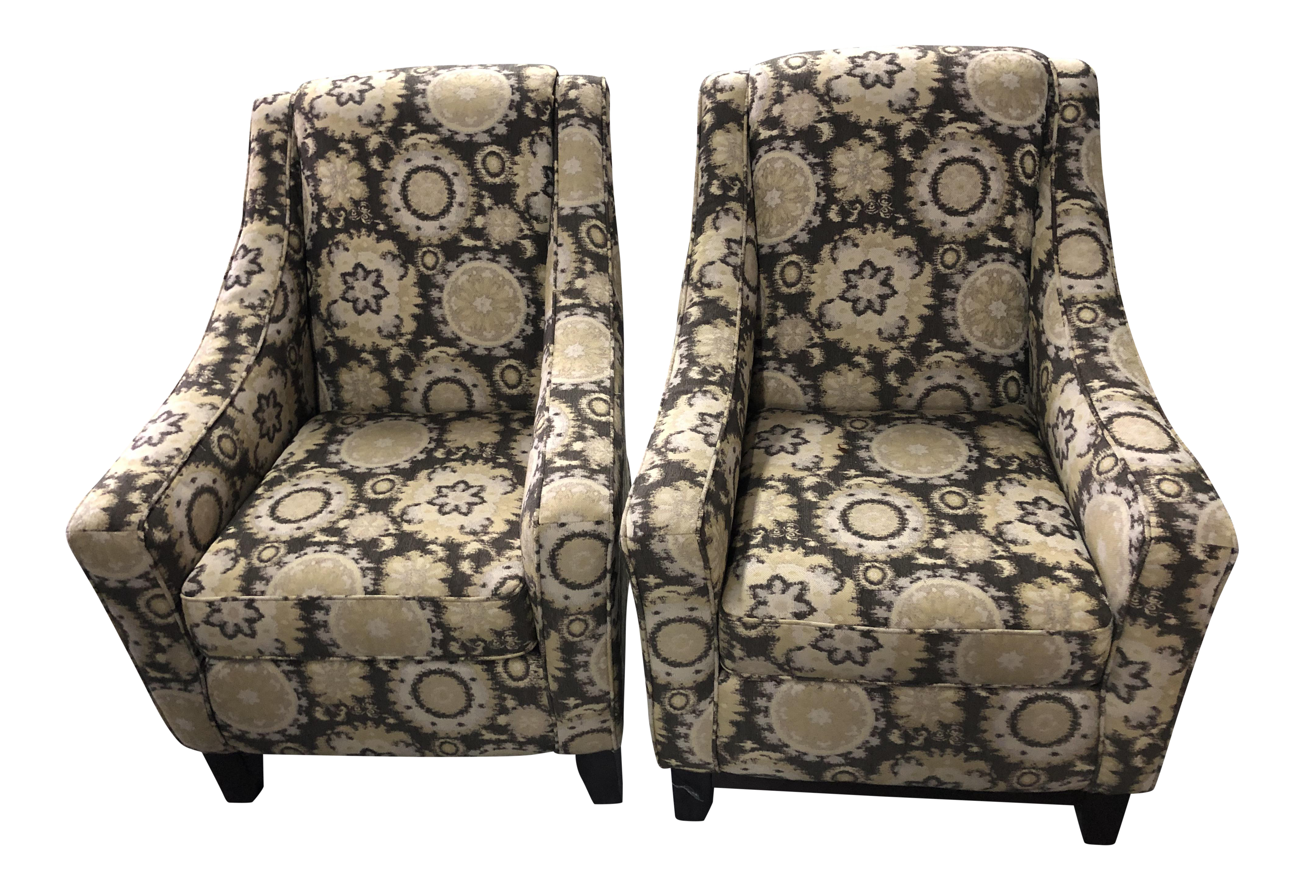 Modern Transitional Colorful Armchairs   A Pair For Sale