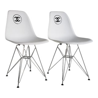 Vintage Chanel France Store Display Chairs - a Pair For Sale