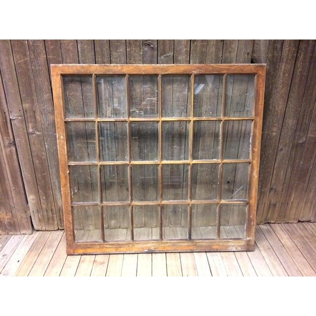 Vintage 24 Pane Wood Window - Image 9 of 11