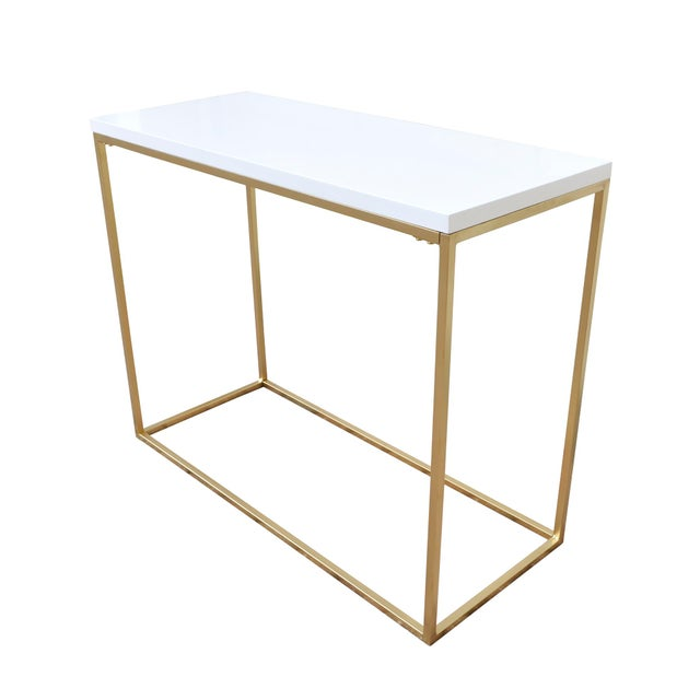 White and Gold Console Table - Image 3 of 4