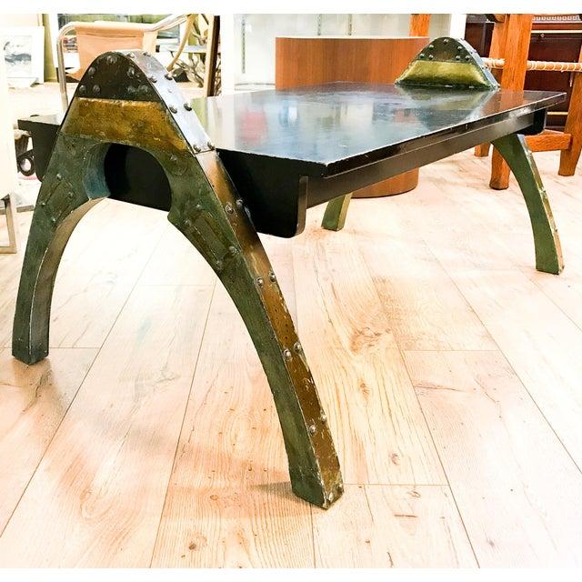 Mid Century Paul Evans Brutalist Metal Coffee Table - Image 10 of 10