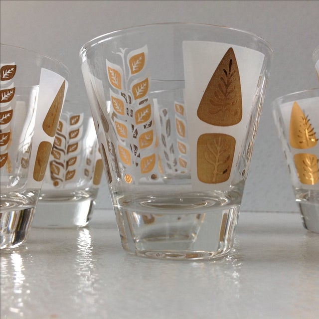 Fred Press Mid-Century Gold Tree Shot Glasses- S/8 - Image 5 of 11
