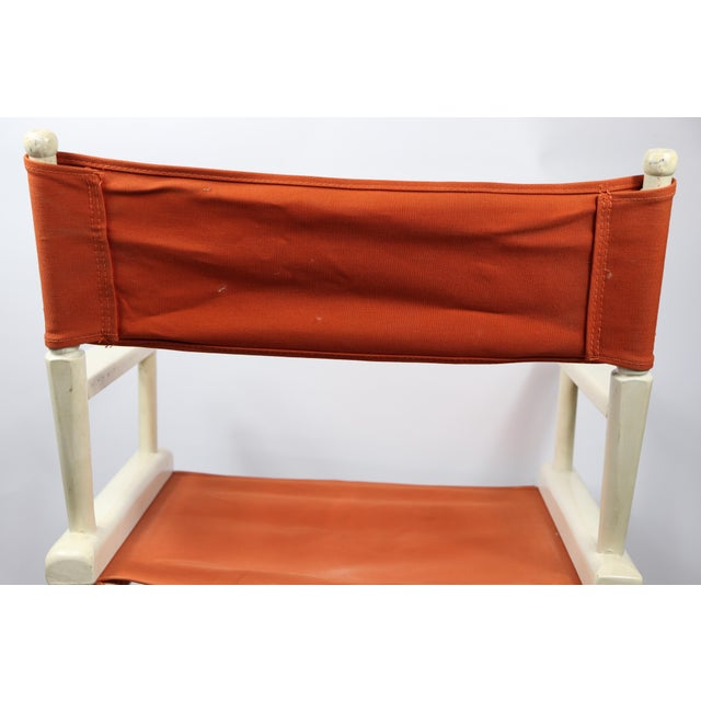 1960s Vintage Telescope Foldable Folding Directors Patio Chair For Sale - Image 9 of 10