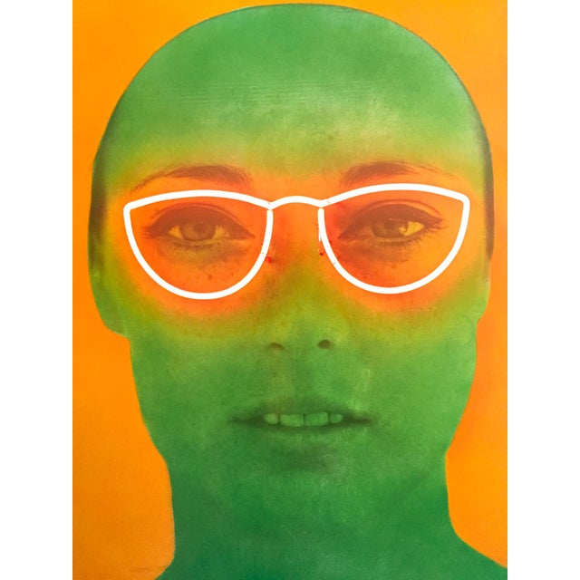 """Paper Martial Raysee Moderna Museet Stockholm Lithograph Print Pop Art Poster """" France Verte """" 1964 For Sale - Image 7 of 13"""