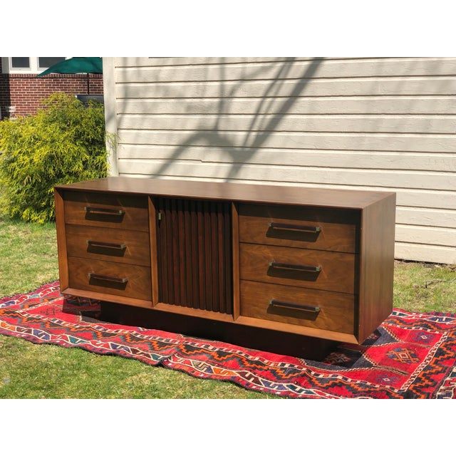 1970s Mid Century Lane 'Tower Collection' Rosewood Credenza For Sale - Image 13 of 13