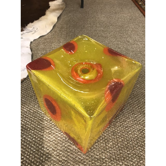 1980s Joseph McDonnell Glass Sculpture For Sale - Image 5 of 5