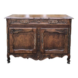 19th Century Country French Fruitwood Sideboard For Sale