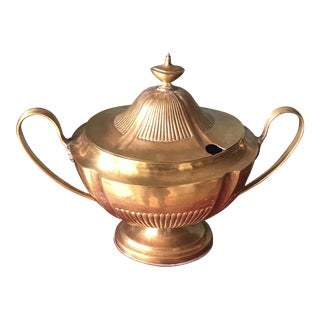 Brass Soup Tureen For Sale