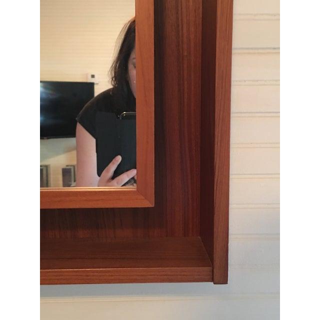 Backlit Teak Framed Mirror by Pedersen & Hansen - Image 4 of 4