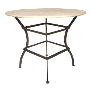 Round Stone Top Dining Table For Sale