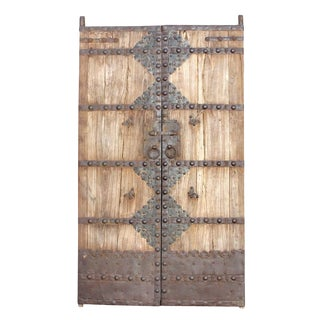 Mongolian Pair of Entrance Doors For Sale