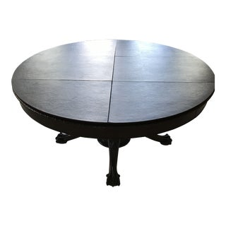 1900s Victorian Split Pedestal Round Ball and Claw Mahogany Table For Sale
