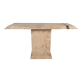 Mid-century Modern Tessellated Stone Console Table in the Style of Maitland Smith