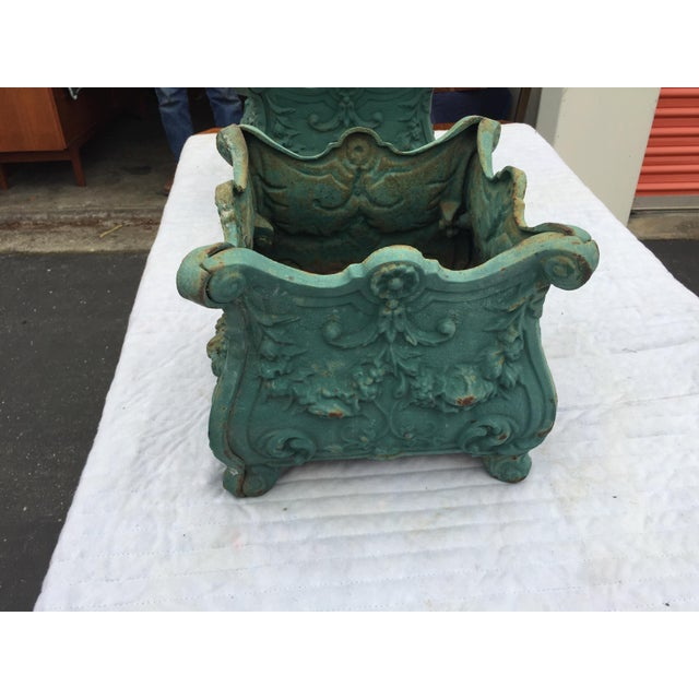French French Cast Iron Planters a Pair For Sale - Image 3 of 10