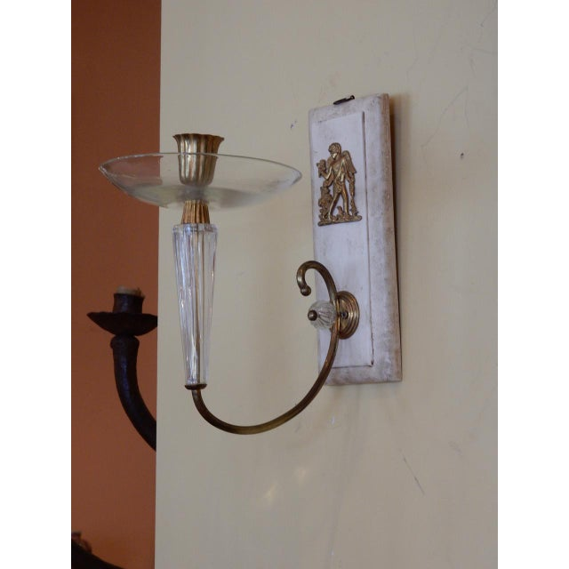 Pair of Art Deco Wall Sconces For Sale - Image 4 of 7