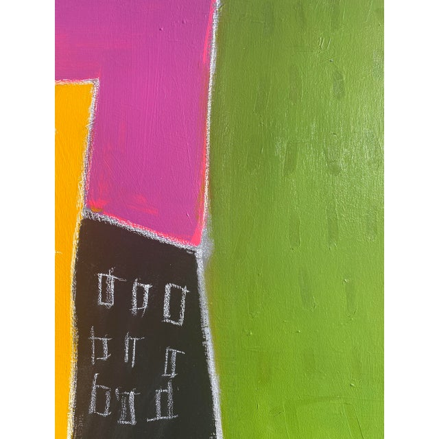 """Sarah Trundle Sarah Trundlle Contemporary Abstract Cityscape """"Urban Color"""" Painting For Sale - Image 4 of 4"""