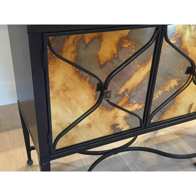A Caracol Furniture; Italian Smoke & Mirror Console For Sale - Image 10 of 13