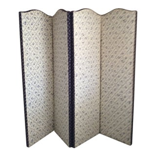 Toile Fabric Custom Room Divider Screen For Sale
