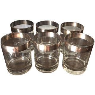 Dorothy Draper Lowball Cocktail Glasses - Set of 6 For Sale