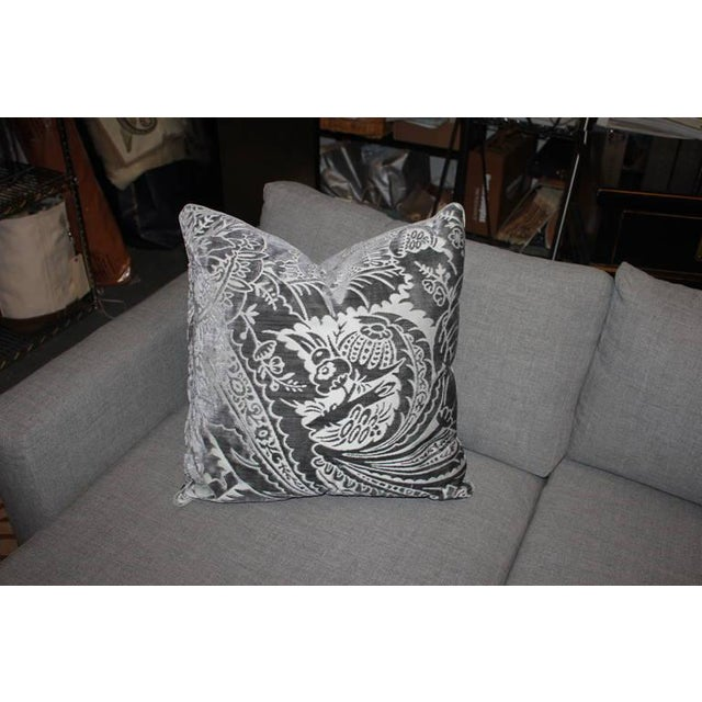 Charcoal Silk/Velvet Pillows - Set of 4 - Image 3 of 6