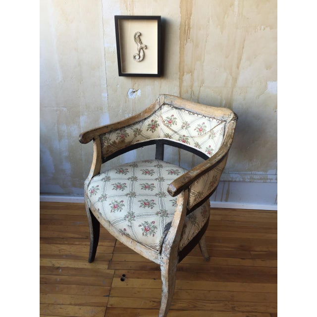 Italian Antique Arm Chair For Sale - Image 4 of 10