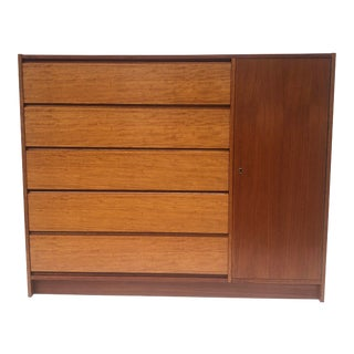 Scandinavian Modern Teak Gentleman's Chest For Sale
