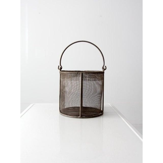 Vintage Wire Mesh Basket - Image 6 of 7