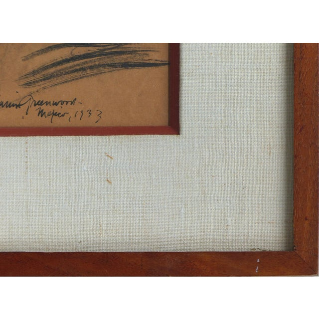 Charcoal on Paper by American Artist Marion Greenwood, Signed ,1933, Mexico For Sale In Miami - Image 6 of 8