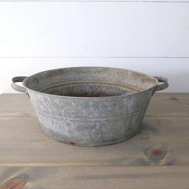 Late 20th Century 20th Century Industrial Zinc Tub For Sale - Image 5 of 5