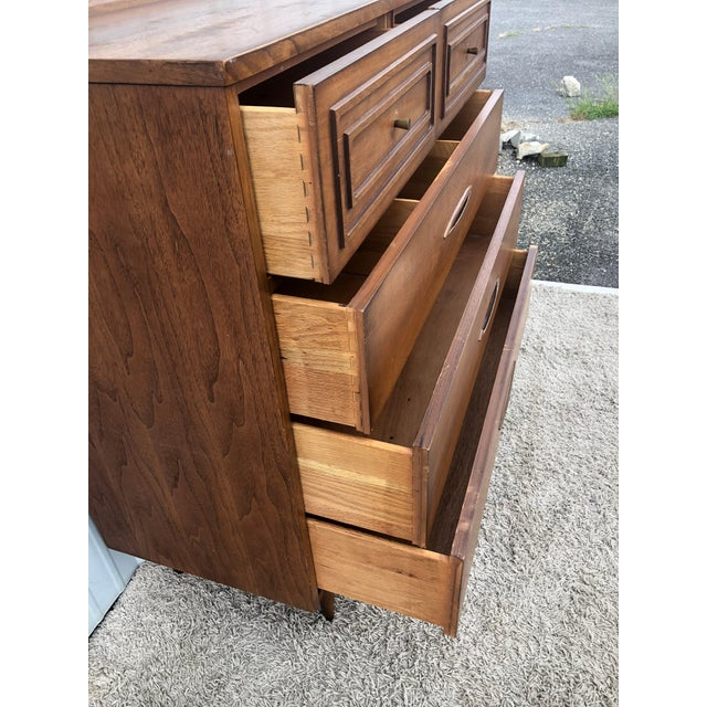 Broyhill Mid Century Modern Highboy Dresser Sculptura by Broyhill For Sale - Image 4 of 13