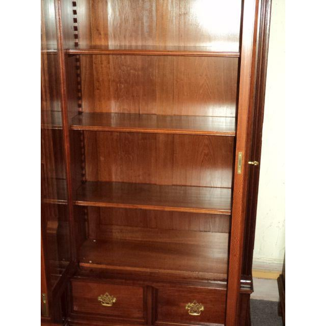 Antique Cherry Bookcase Display Cabinet For Sale - Image 5 of 8