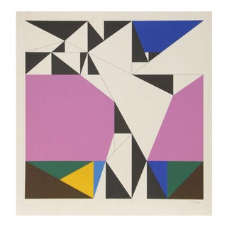 """Untitled 1"" A.P. 1970 Limited Edition Abstract Serigraph by Walter Heinz Allner For Sale"