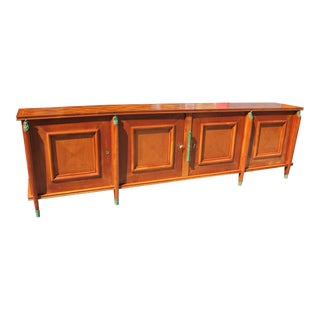 Master Piece French Art Deco Sideboard / Buffet Cherry Wood By Leon Jallot 1930s