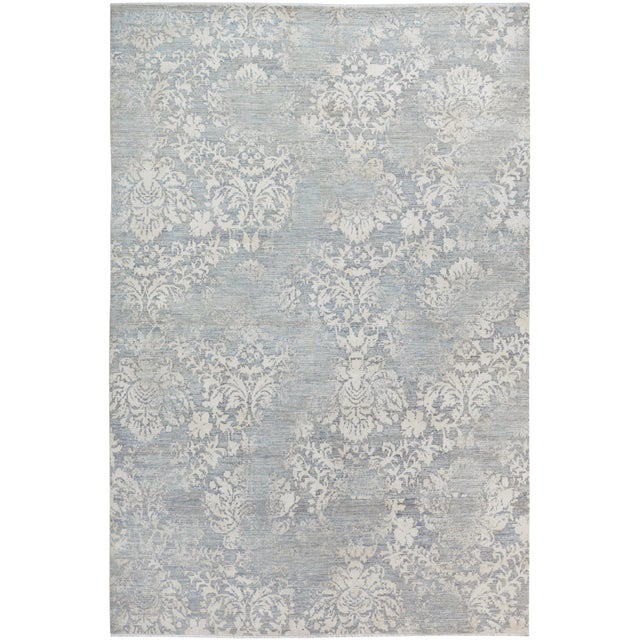 Kafkaz Peshawar Cole Gray & Ivory Wool Rug - 8'1 X 11'7 For Sale