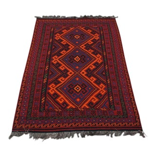 Contemporary Handwoven Tribal Kilim Rug - 7′2″ × 11′ For Sale