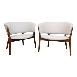Pair of Nanna Ditzel Lounge Chairs For Sale