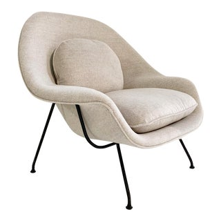 Eero Saarinen Womb Chair in Loro Piana Alpaca Wool For Sale
