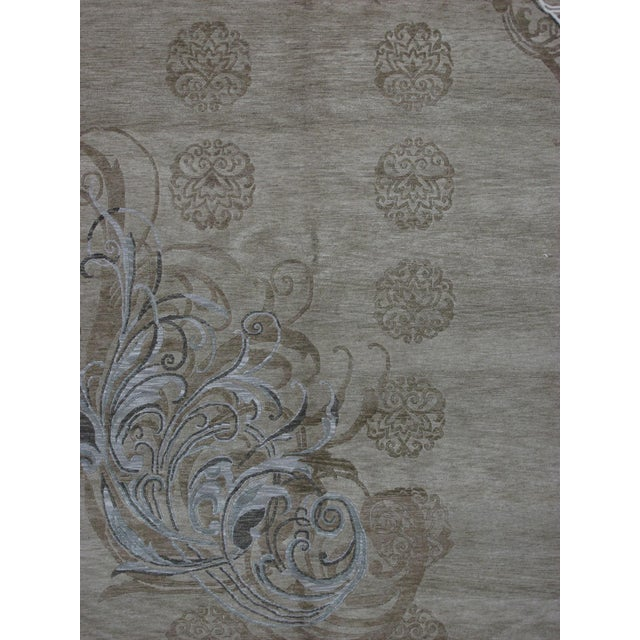 Soumak Design Hand Woven Wool Rug - 6' x 9' - Image 2 of 5