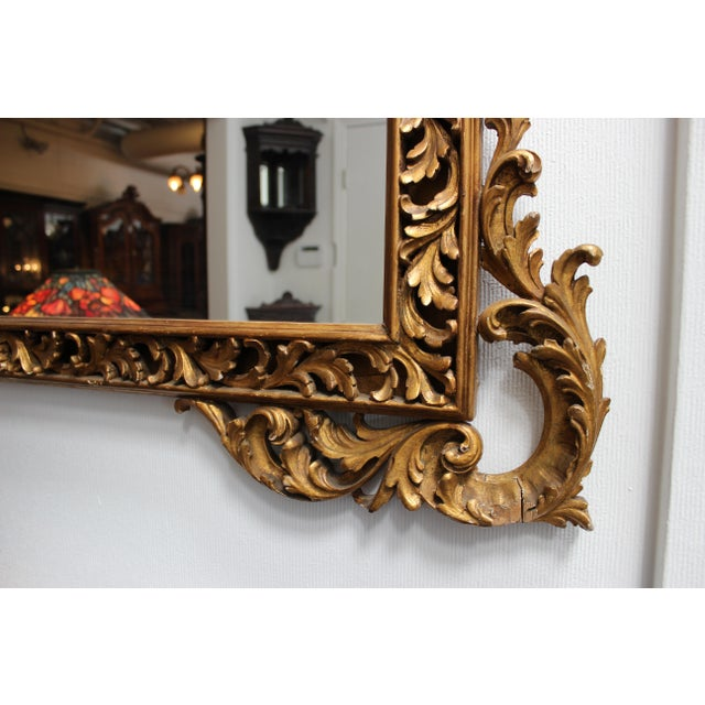 Antique French Gilt Rectangular Mirror For Sale - Image 4 of 6