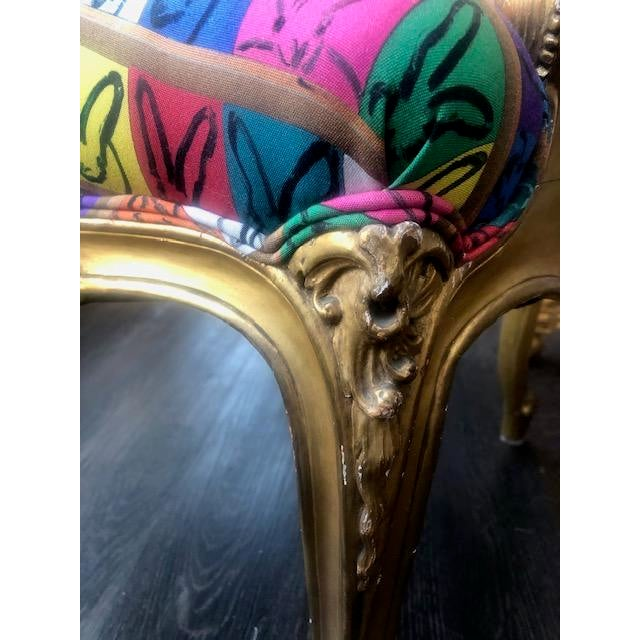 Mid 20th Century Giltwood Fauteuil en Cabriolet For Sale - Image 5 of 8